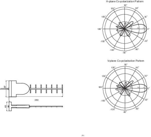 WLAN Flächen-Antenne 12 dB 2.4 GHz Allnet ALL19021