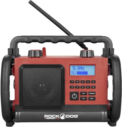 UKW Baustellenradio PerfectPro DOG1 AUX, UKW spritzwassergeschützt, staubdicht, stoßfest Rot