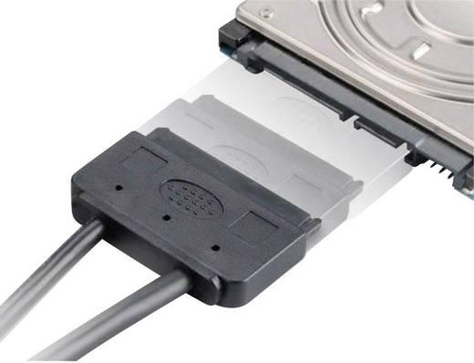 Festplatten Adapter [1x SATA-Kombi-Buchse 7+15pol. - 1x USB 2.0 Stecker A, eSATA-Stecker 7pol.] 0.40 m Schwarz Akasa