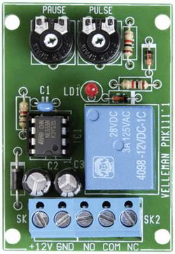 Compteur d'intervalles (kit monté) Velleman VM136 12 V/DC 0.5 - 60 s 1 pc(s)