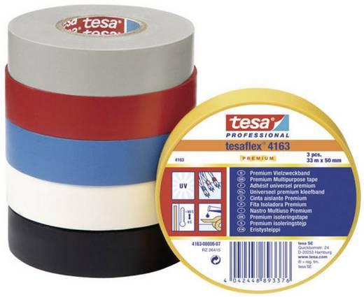 Isolierband tesaflex Premium Schwarz (L x B) 33 m x 19 mm tesa 4163-00-07 1 Rolle(n)