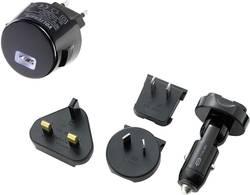 Napájecí adaptér s USB a 4 adaptéry Voltcraft CPUC-1000, vstupní U 230/12 V, 1 A
