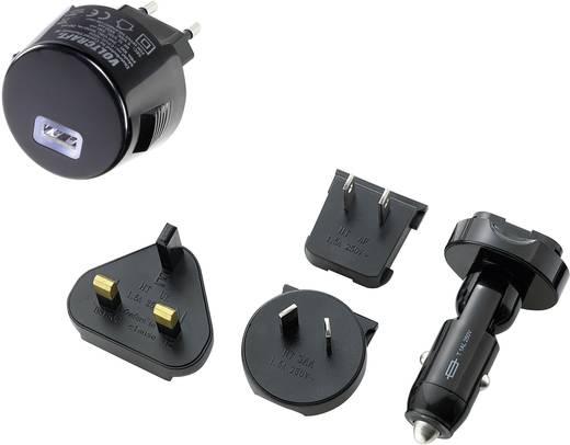 USB-Ladegerät VOLTCRAFT CPUC-1000 CPUC-1000 KFZ, Steckdose Ausgangsstrom (max.) 1000 mA 1 x USB mit UK-Adapter