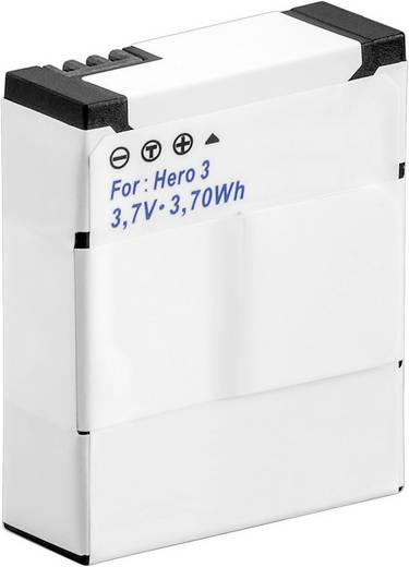 Kamera-Akku Conrad energy ersetzt Original-Akku AHDBT-301, 3661086 GoPro Hero HD3, 3+ 3.7 V 1050 mAh