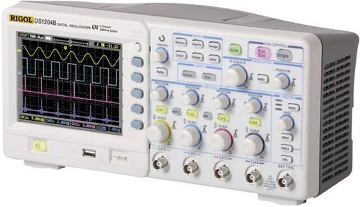 Digital-Oszilloskop Rigol DS1204B 200 MHz 4-Kanal 1 GSa/s 8 kpts 8 Bit Kalibriert nach DAkkS Digital-Speicher (DSO)