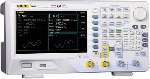 Rigol DG4102 Arbiträr-Funktionsgenerator, Frequenzbereich 1 µHz - 100 MHz, 2 Kanäle, 14 bit Vertikal-Auflösung, Integrie