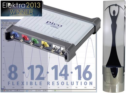 USB-Oszilloskop pico PP870 60 MHz 4-Kanal 250 MSa/s 8 Mpts 16 Bit Digital-Speicher (DSO), Funktionsgenerator, Spectrum-
