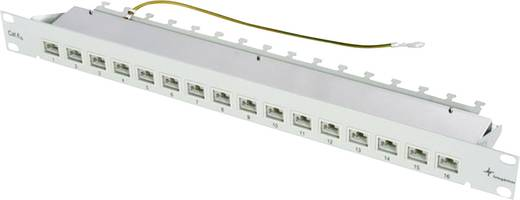 16 Port Netzwerk-Patchpanel Telegärtner J02022A0050 CAT 6a 1 HE