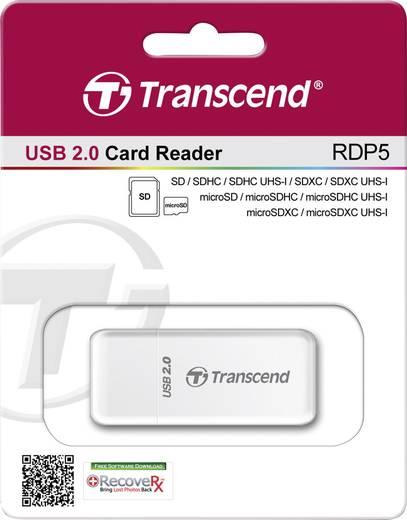 Externer Speicherkartenleser USB 2.0 Transcend P5 Weiß