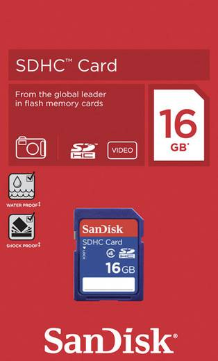 SDHC-Karte 16 GB SanDisk SDSDB-016G Class 4