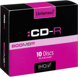 CD-R 90 800 Mo Intenso 1001632 10 pc(s) slimcase