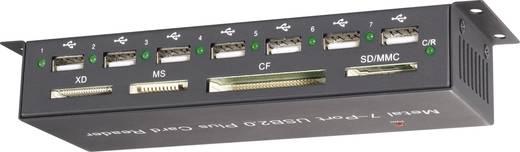 Externer Speicherkartenleser / Hub USB 2.0 Renkforce CR09e-Hub Schwarz