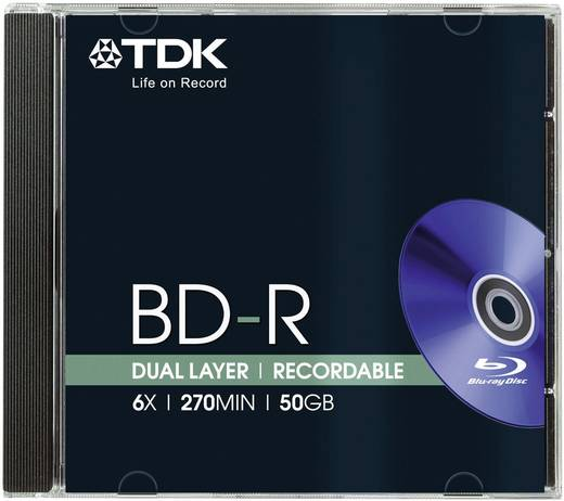 Blu-ray BD-R Rohling 25 GB TDK BD-R256X 1 St. Jewelcase