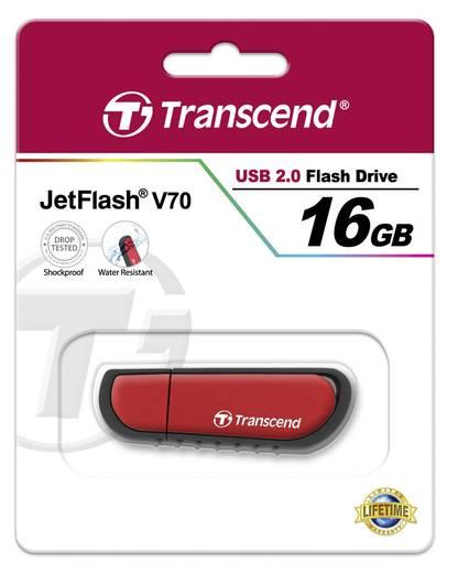 USB-Stick 16 GB Transcend JetFlash® V70 Rot TS16GJFV70 USB 2.0