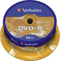 DVD-R 4.7 GB Verbatim 43522, vrstva proti poškrábání, 25 ks, vřeteno