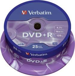 DVD+R 4.7 GB Verbatim 43500, 25 ks, vřeteno