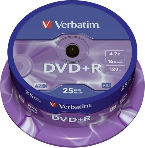 DVD+R Rohling 4.7 GB Verbatim 43500 25 St. Spindel