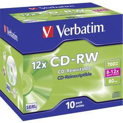 CD-RW 700 MB Verbatim 43148 10 ks Jewelcase přepisovatelné