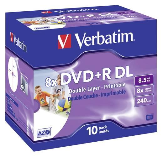 Verbatim DVD+R DL 8.5 GB 8x 10er Jewelcase bedruckbar