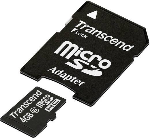 Transcend Standard microSDHC-Karte 4 GB Class 6 inkl. SD-Adapter