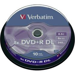Verbatim DVD+R DL 8,5GB 8X 10 ks cake box