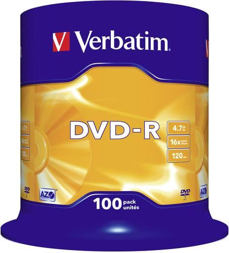 DVD-R Rohling 4.7 GB Verbatim 43549 100 St. Spindel