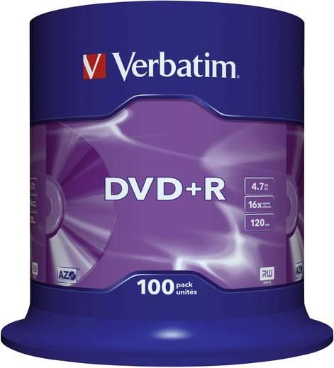 DVD+R Rohling 4.7 GB Verbatim 43551 100 St. Spindel