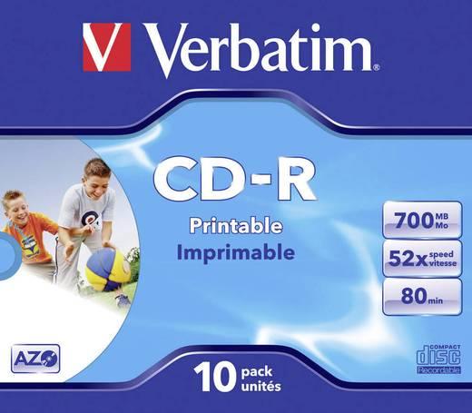 CD-R 80 Rohling 700 MB Verbatim 43325 10 St. Jewelcase