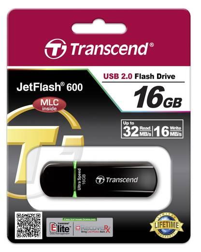 Transcend JetFlash® 600 USB-Stick 16 GB Grün TS16GJF600 USB 2.0