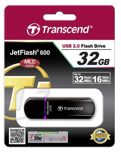Transcend JetFlash® 600 USB-Stick 32 GB Lila TS32GJF600 USB 2.0