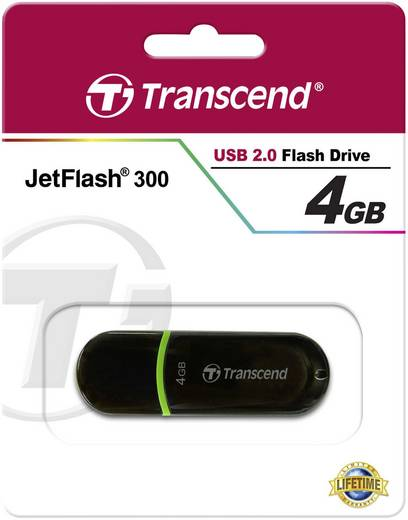 USB-Stick 4 GB Transcend JetFlash® 300 Grün TS4GJF300 USB 2.0