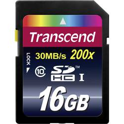 Pamäťová karta SDHC 16 GB Transcend Premium Class 10