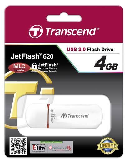 Transcend JetFlash® 620 USB-Stick 4 GB Weiß TS4GJF620 USB 2.0