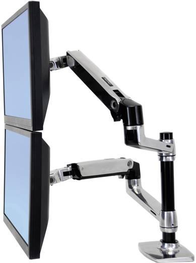 """2fach Monitor-Tischhalterung 38,1 cm (15"""") - 61,0 cm (24"""") Neigbar+Schwenkbar, Rotierbar Ergotron LX Doppelschirmlösung"""