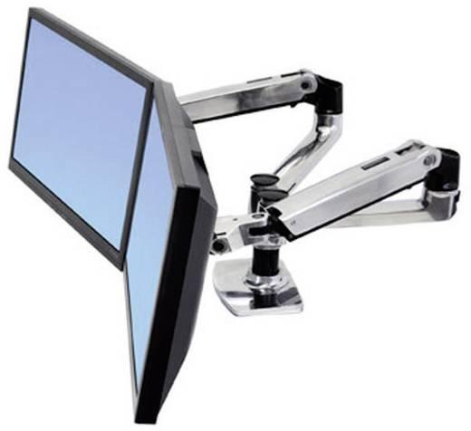 """2fach Monitor-Tischhalterung 38,1 cm (15"""") - 68,6 cm (27"""") Neigbar+Schwenkbar, Rotierbar Ergotron LX Doppelschirmlösung"""