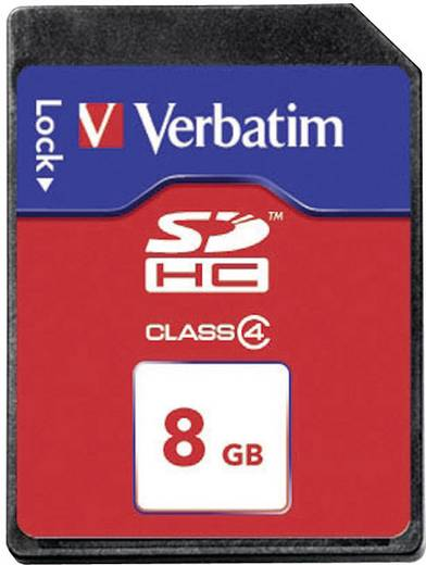 SDHC-Karte 8 GB Verbatim 97303 Class 4