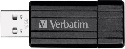 Verbatim Pin Stripe USB-Stick 16 GB Schwarz 49063 USB 2.0