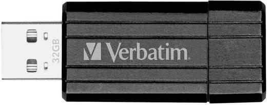 USB-Stick 32 GB Verbatim Pin Stripe Schwarz 49064 USB 2.0