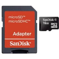 Pamäťová karta Micro SDHC 16 GB SanDisk Class 4 vr. SD adaptéru
