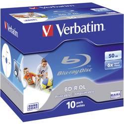 Blu-ray BD-R DL 50 GB Verbatim Jewelcase, 43736, s potiskem, 10 ks