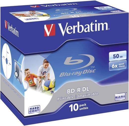 Blu-ray BD-R DL Rohling 50 GB Verbatim 43736 10 St. Jewelcase Bedruckbar