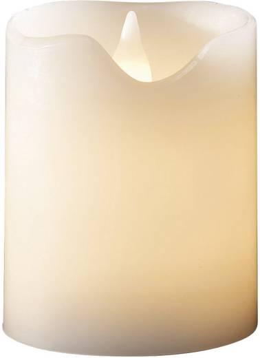 LED-Echtwachskerze Weiß Warm-Weiß (Ø x H) 8 cm x 10 cm Konstsmide
