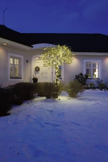 Micro-Lichterkette Außen netzbetrieben 80 LED Warm-Weiß Beleuchtete Länge: 6.32 m Konstsmide 3691-107