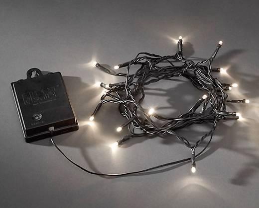 Micro-Lichterkette Außen batteriebetrieben 80 LED Warm-Weiß Konstsmide 3728-100