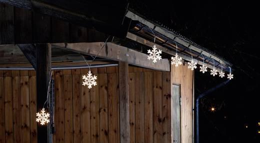 Lichtervorhang-Schneeflocken Außen 24 V 60 LED Warm-Weiß (B x H) 900 cm x 10.5 cm Konstsmide