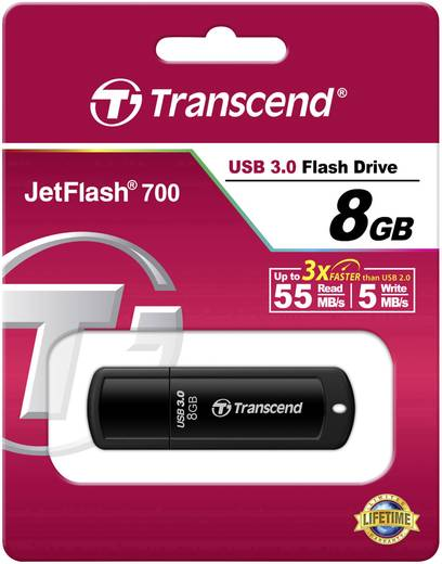 Transcend JetFlash® 700 USB-Stick 8 GB Schwarz TS8GJF700 USB 3.0