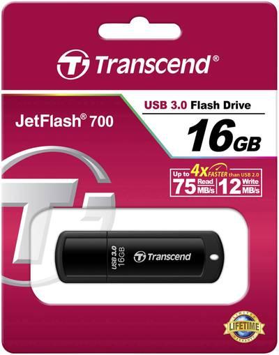 Chiavetta USB 16 GB Transcend JetFlash® 700 Nero TS16GJF700 USB 3.0