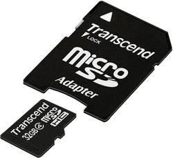 Pamětová karta microSDHC Transcend 32GB, Class 4, SD adaptér