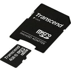 Pamäťová karta micro SDHC, 4 GB, Transcend Premium, Class 10, vr. SD adaptéru