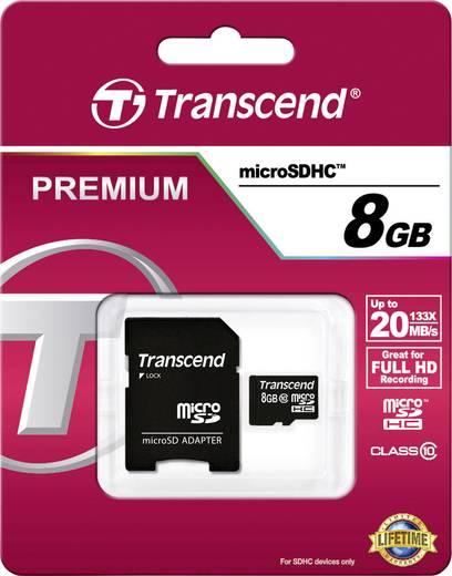 microSDHC-Karte 8 GB Transcend Premium Class 10 inkl. SD-Adapter